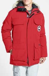 Canada Goose Men's 'Expedition' Relaxed Fit Down Parka Red