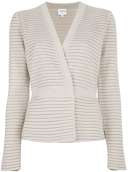 Armani Collezioni Cross Over Cardigan Nude And Neutrals