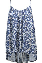 Chelsea Flower Uma Printed Voile Top Bright Blue