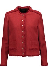Maje Tweed Jacket Red