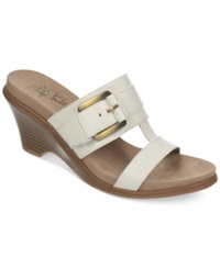 Life Stride Peaceful Wedge Sandals Women's Shoes White