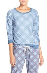 Honeydew Intimates Women's Burnout French Terry Sweatshirt Cathedral Plaid