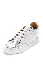Maison Martin Margiela Low Top Sneakers Silver White