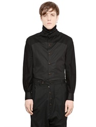 Vivienne Westwood Cotton Poplin And Jersey Turtleneck Shirt