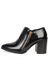 Alice And You Zip Up Heeled Ankle Boot Black