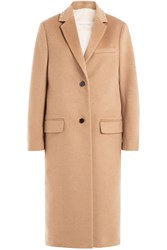 Valentino Wool Coat With Rockstuds Brown
