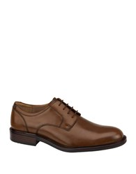 Johnston And Murphy Tabor Plain Toe Leather Oxfords Tan