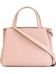 Valextra Small 'Triennale' Tote Pink And Purple