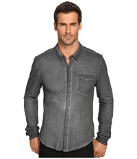 Michael Stars Button Down Shirt Graphite Men's Clothing Gray