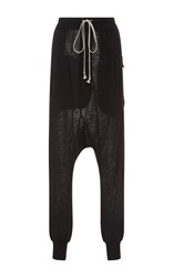 Rick Owens Lilies Drawstring Lounge Pants Black