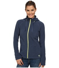 Mountain Hardwear Microchill Full Zip Hoodie Zinc Women's Sweatshirt Blue