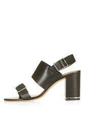 Topshop Natalia Double Buckle Sandals Black