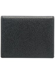 Thom Browne Striped Detailing Cardholder Black