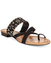 Styleandco. Style Co. Behati Embellished Flat Sandals Only At Macy's Women's Shoes Black