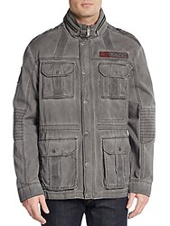 Affliction Fast N Loud Cotton Jacket Charcoal