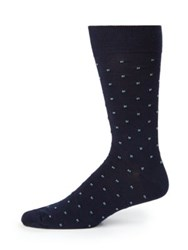 Saks Fifth Avenue Tiny Tiles Socks Grey Navy Black