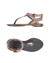 Buttero Thong Sandals Lead