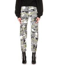 Vetements Military Twill Trousers Black White