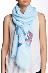 Lava Anchor Nautical Scarf Blue