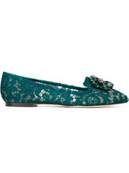 Dolce And Gabbana 'Vally' Slippers Green