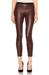 Theperfext Brittany Cropped Leather Pants In Red