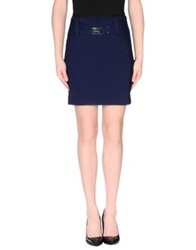 High Tech Knee Length Skirts Dark Blue