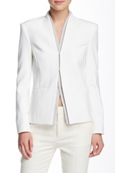 J Brand Hale Stand Up Collar Blazer White