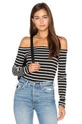 Bailey 44 Stripe Jacqueline Top Black And White