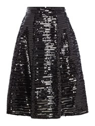 Tfnc All Over Sequin Fit And Flare Skirt Black