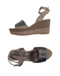 Apepazza Footwear Sandals Women Grey