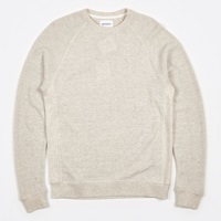 Norse Projects Ketel Textured Cotton Sweat Ecru