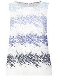 White Stuff Tweeting Vest Cornflower Blue