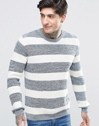 Minimum Stripe Knit Jumper Navy