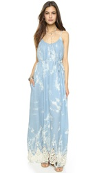 Line And Dot Muse Maxi Dress Pastel Blue