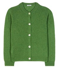 Miu Miu Wool Cardigan Green