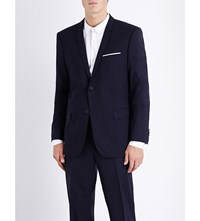 The Kooples Slim Fit Wool Jacket Navy