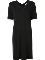 Just Female Flared Effect V Neck Dress Black