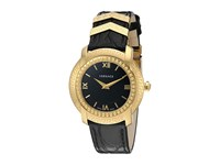 Versace Dv25 Round Lady Vam03 0016 Blue Yellow Gold Black Watches