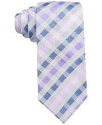 Alfani Spectrum Men's Tate Checked Slim Tie Only At Macy's Purple