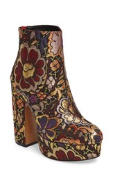 Shellys Women's London Chanah Embroidered Platform Bootie