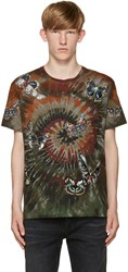 Valentino Green Tie Dye Butterfly T Shirt