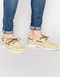 Shoe The Bear Ohoi Leather Boat Shoes White