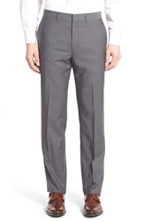 Men's Michael Kors Flat Front Check Wool Trousers