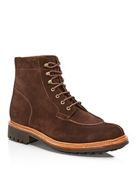 Grenson Grover Brown Suede Boots Chocolate Brown