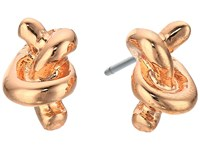 Lauren Ralph Lauren Rose Chic Metal Knot Studs Rose Gold Earring