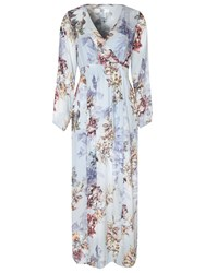 True Decadence Printed Maxi Dress Dusty Lilac
