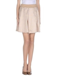 Le Ragazze Di St. Barth Knee Length Skirts Beige