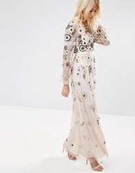 Needle And Thread Tiered Woodland Lace Maxi Dress Petal Pink