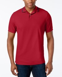 Club Room Men's Performance Sun Protection Polo Fire