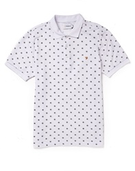 Farah Vintage Short Sleeve Pique Polo Shirt With Dot Print